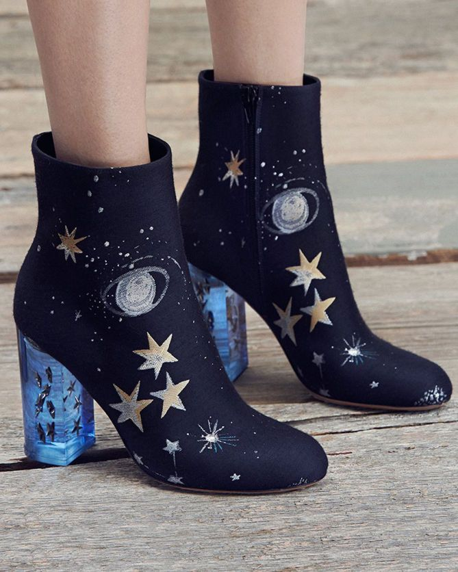 space-print-ankle-boots