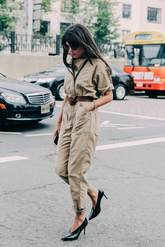 street-style-khaki-fashion-week-utility-army-boilersuit-jumpsuit