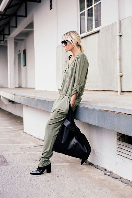 street-style-fashion-week-utility-army-jumpsuit