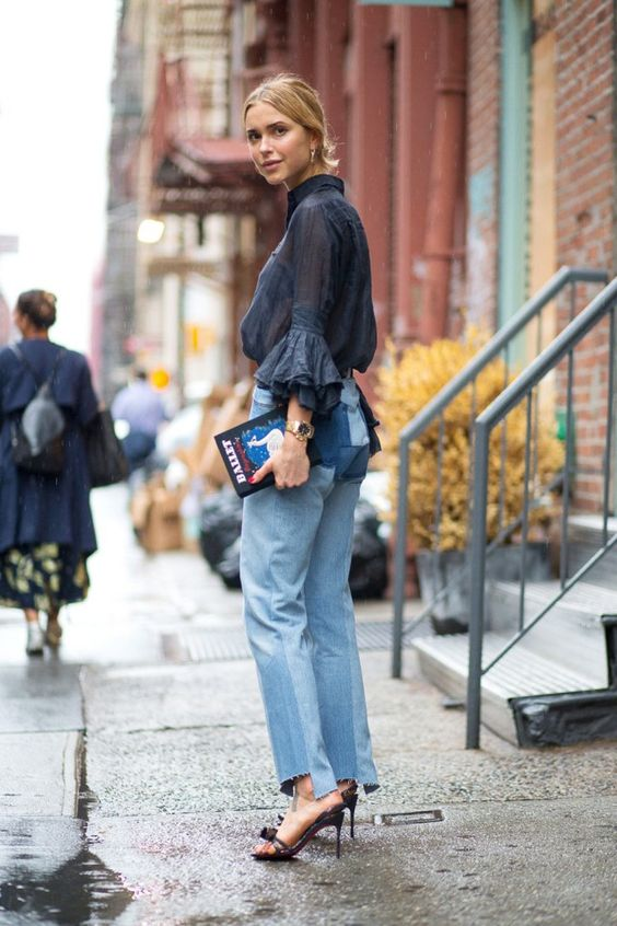 frilly-ruffle-blouse-street-style-fashion-week