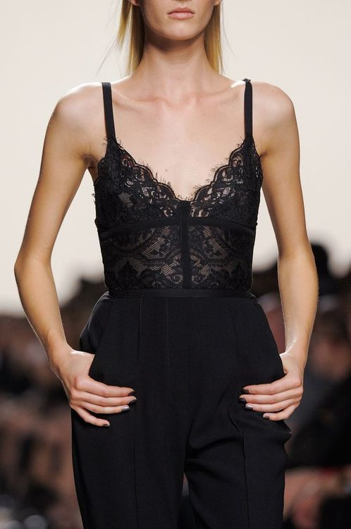 lace+bodysuit+catwalk+fashion+week+street+style+trends+spring+summer+ss16