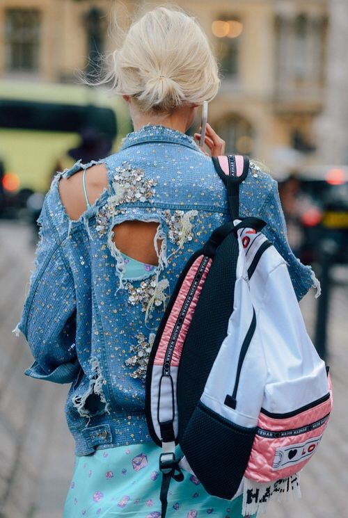 denim+street+style+trends+fashion+week+sequin