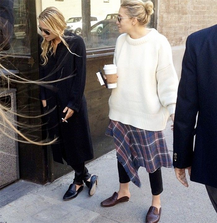 mary-kate-ashley-olsen-street-style-grunge-chic-loafers