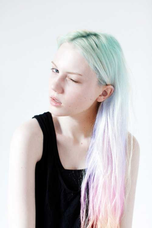 green-blue-pink-pastel-hair-mermaid-festival-beauty-style-model