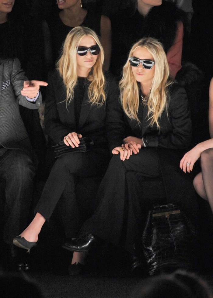 mary-kate-ashley-olsen-street-style-twinning-power-couple-FROW-fashion-week