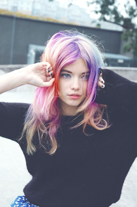 purple-pink-pastel-hair-mermaid-festival-beauty-style