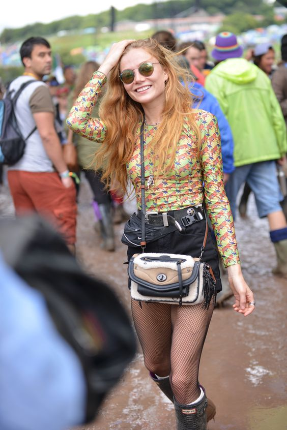 clara-padgett-celeb-glastonbury-style-festival-denim-shorts-wellies-celebrity