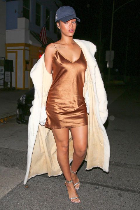 rihanna-street-style-slip-dress-fur-coat