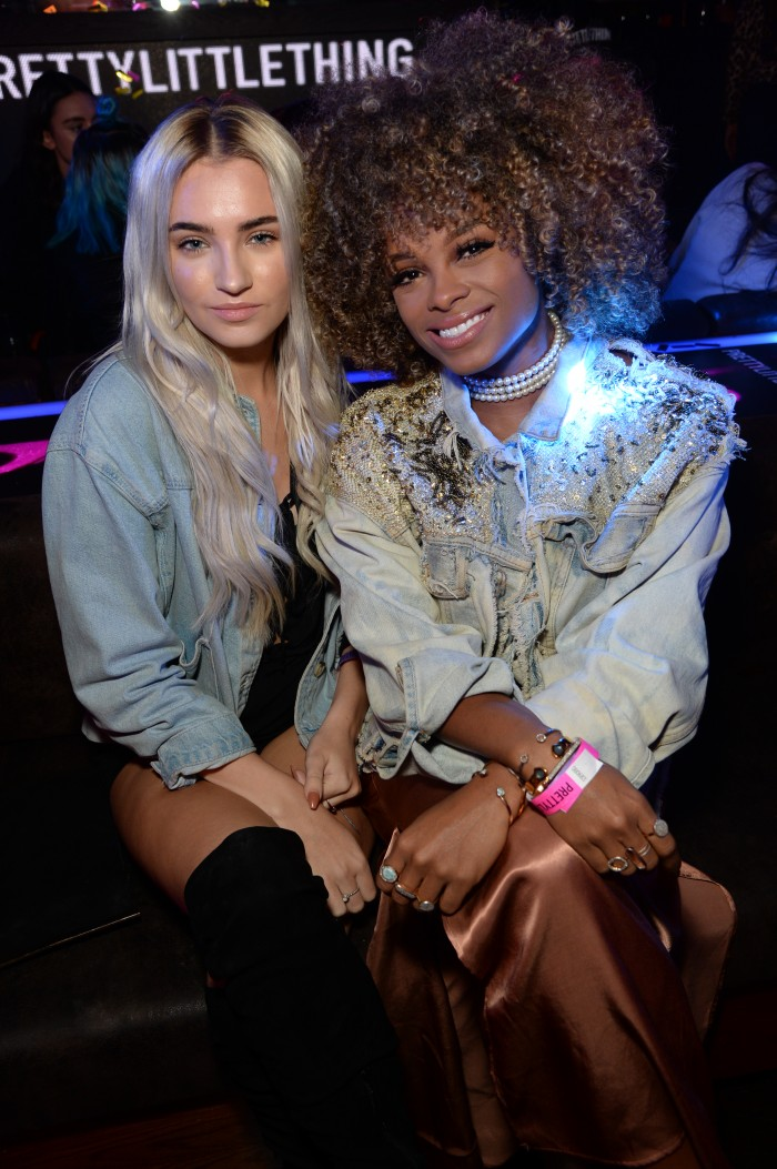 Fleur East at the Sofia Richie x Pretty Little Thing Party at Tape London, UK