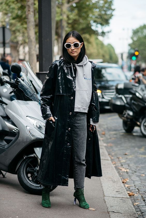 street-style-blogger-model-pvc-coat-jacket-hoodie