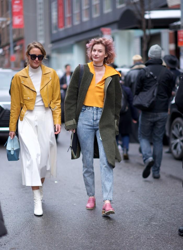 karen blanchard street style photography NYFW yellow