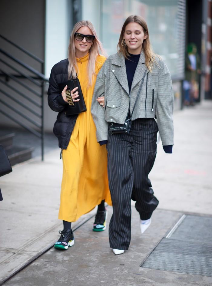 karen blanchard street style photography NYFW yellow oversized