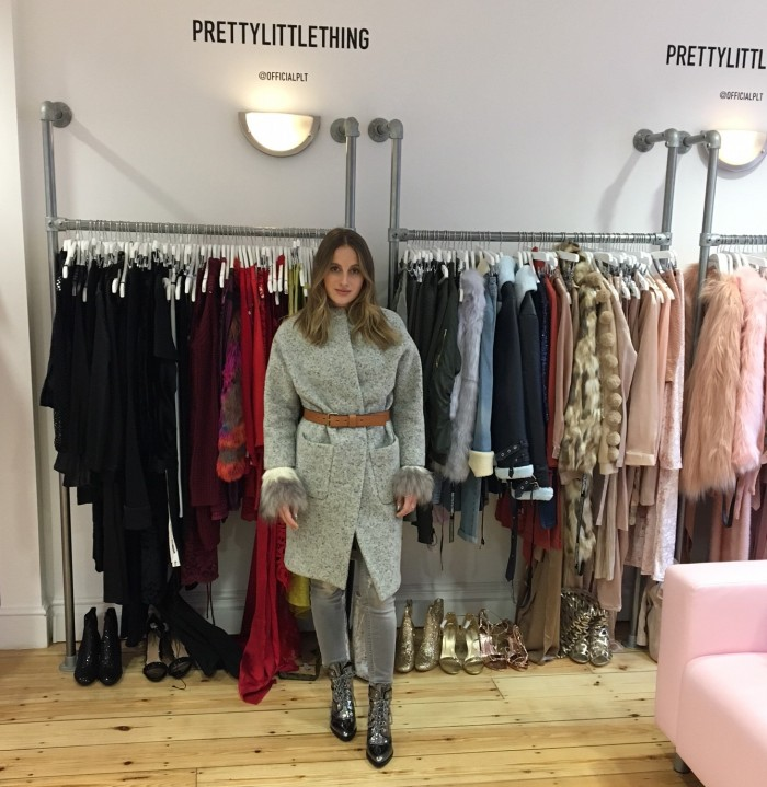 rosie fortescue prettylittlething london showroom