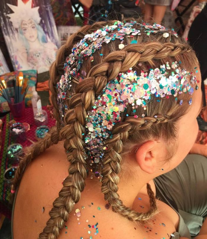 gypsy shrine festival hair glitter