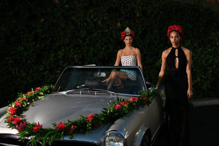 prettylittlething x olivia culpo party LA models car