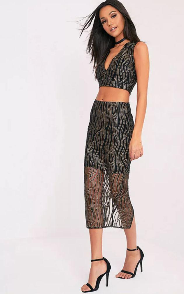 sparkle maxi skirt