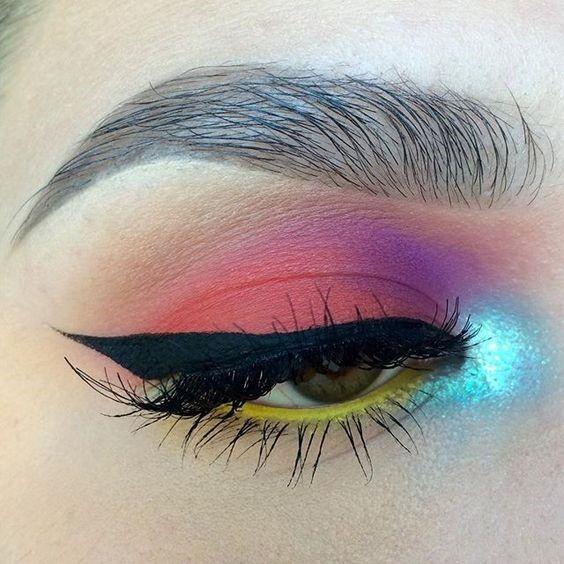 neon eye make up