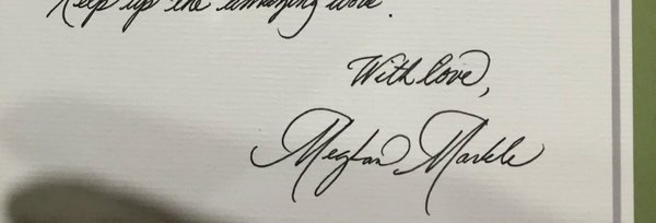 meghan markle handwriting