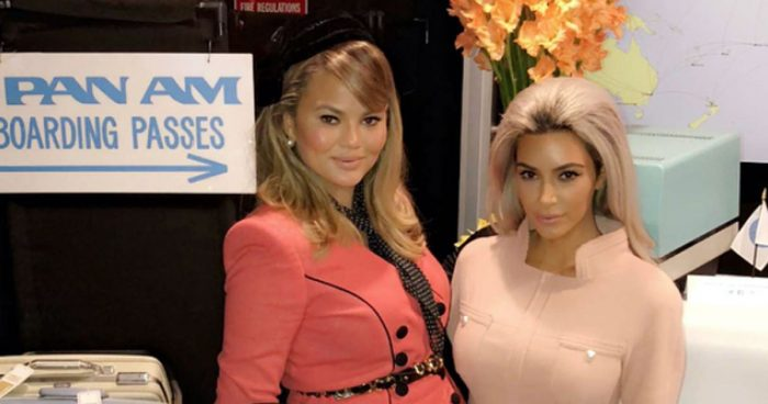 chrissy teigen birthday pan am party kim kardashian