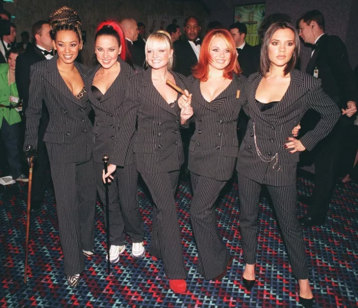 spice girls suits red carpet