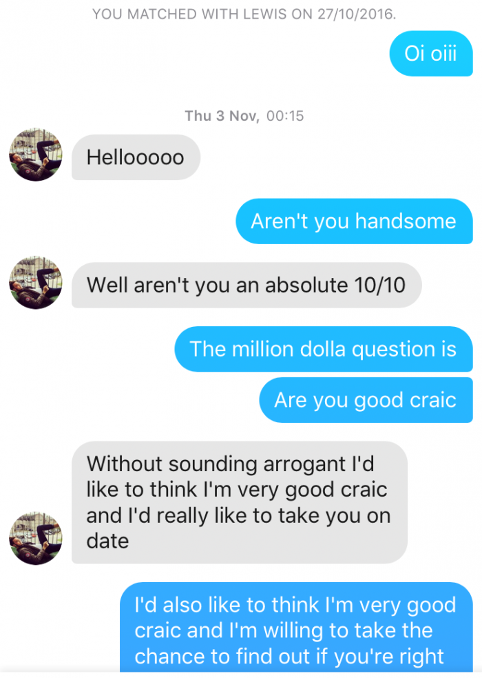 tinder chat