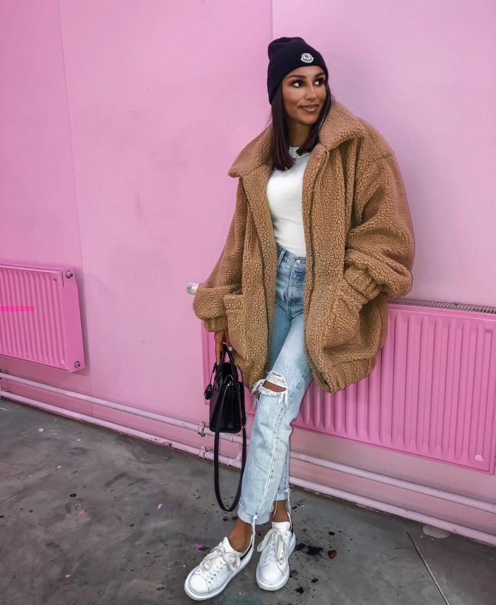 influencer style coat