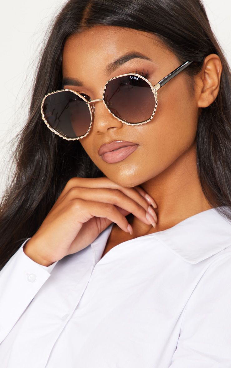 3e17d8c74fb1 Quay Australila Gold Breeze Sunglasses   PrettyLittleThing